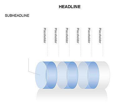 Cylinder Diagram Toolbox, Slide 24, 03282, Shapes — PoweredTemplate.com