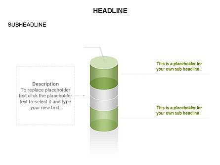 Cylinder Diagram Toolbox, Slide 29, 03282, Shapes — PoweredTemplate.com