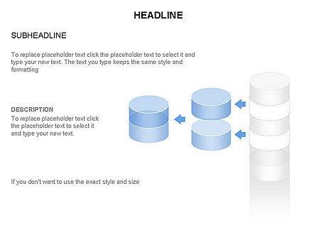 Cylinder Diagram Toolbox, Slide 30, 03282, Shapes — PoweredTemplate.com
