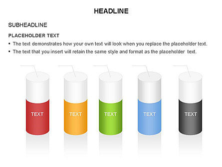 Cylinder Diagram Toolbox, Slide 35, 03282, Shapes — PoweredTemplate.com