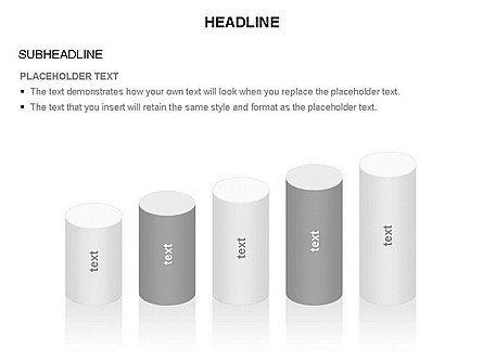 Cylinder Diagram Toolbox, Slide 37, 03282, Shapes — PoweredTemplate.com