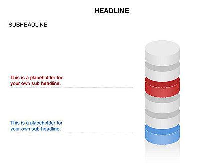 Cylinder Diagram Toolbox, Slide 40, 03282, Shapes — PoweredTemplate.com