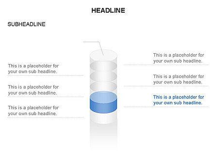 Cylinder Diagram Toolbox, Slide 5, 03282, Shapes — PoweredTemplate.com