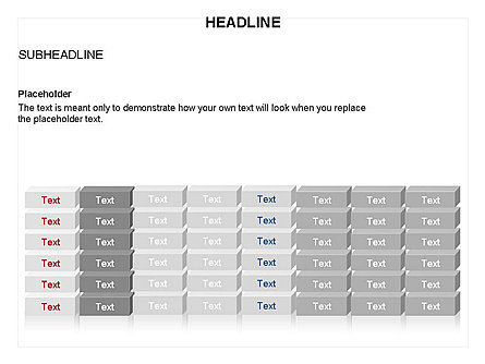 Blocks Toolbox, Slide 11, 03287, Stage Diagrams — PoweredTemplate.com