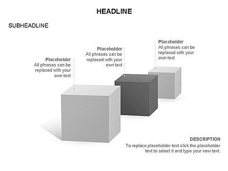 Cubes Toolbox, Slide 18, 03290, Shapes — PoweredTemplate.com