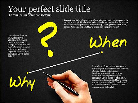 Five Ws Presentation Concept, Slide 10, 03292, Presentation Templates — PoweredTemplate.com