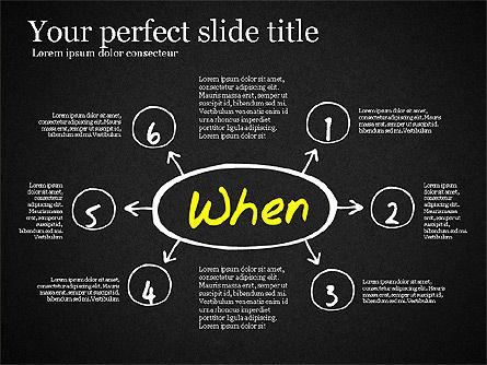 Five Ws Presentation Concept, Slide 14, 03292, Presentation Templates — PoweredTemplate.com