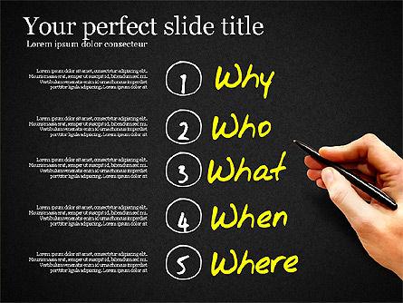 Five Ws Presentation Concept, Slide 15, 03292, Presentation Templates — PoweredTemplate.com