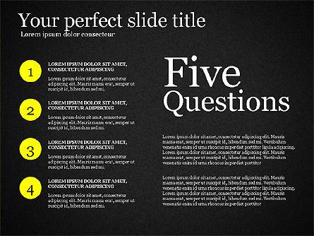 Five Ws Presentation Concept, Slide 16, 03292, Presentation Templates — PoweredTemplate.com