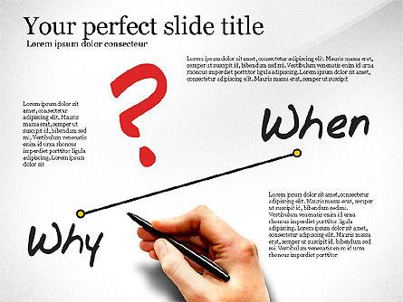 Five Ws Presentation Concept, Slide 2, 03292, Presentation Templates — PoweredTemplate.com