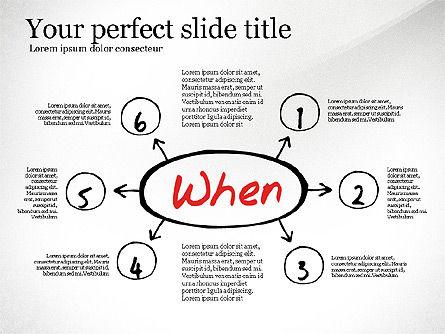 Five Ws Presentation Concept, Slide 6, 03292, Presentation Templates — PoweredTemplate.com