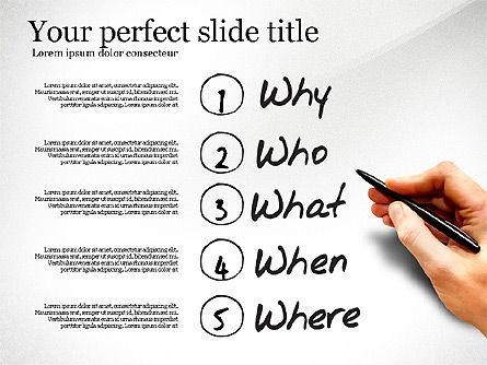 Five Ws Presentation Concept, Slide 7, 03292, Presentation Templates — PoweredTemplate.com