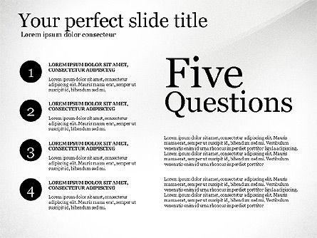 Five Ws Presentation Concept, Slide 8, 03292, Presentation Templates — PoweredTemplate.com