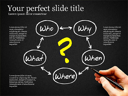 Five Ws Presentation Concept, Slide 9, 03292, Presentation Templates — PoweredTemplate.com