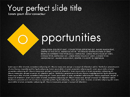 Strengths Weaknesses Opportunities and Threats Presentation, Slide 13, 03295, Business Models — PoweredTemplate.com