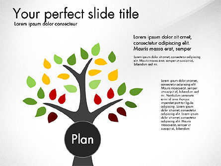 Creating Plan Presentation Template, 03299, Presentation Templates — PoweredTemplate.com