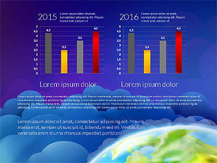 Data Driven Presentation on Globe Background, Slide 10, 03300, Presentation Templates — PoweredTemplate.com