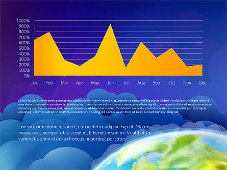 Data Driven Presentation on Globe Background, Slide 11, 03300, Presentation Templates — PoweredTemplate.com