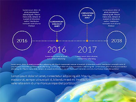 Data Driven Presentation on Globe Background, Slide 12, 03300, Presentation Templates — PoweredTemplate.com