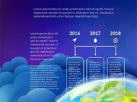 Data Driven Presentation on Globe Background, Slide 13, 03300, Presentation Templates — PoweredTemplate.com