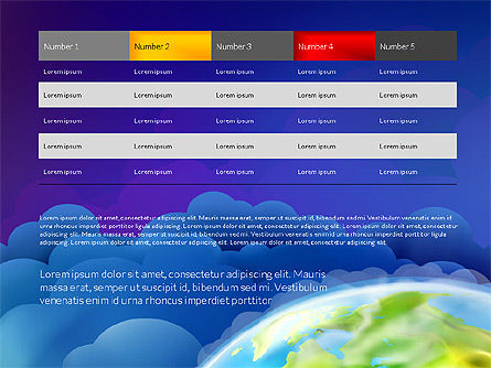 Data Driven Presentation on Globe Background, Slide 14, 03300, Presentation Templates — PoweredTemplate.com