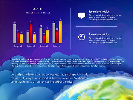 Data Driven Presentation on Globe Background, Slide 16, 03300, Presentation Templates — PoweredTemplate.com