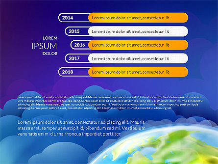 Data Driven Presentation on Globe Background, Slide 5, 03300, Presentation Templates — PoweredTemplate.com