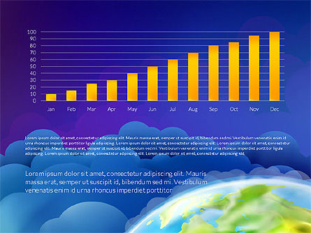 Data Driven Presentation on Globe Background, Slide 7, 03300, Presentation Templates — PoweredTemplate.com