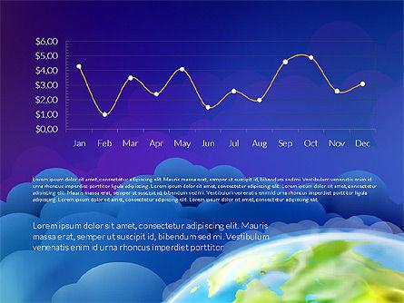 Data Driven Presentation on Globe Background, Slide 8, 03300, Presentation Templates — PoweredTemplate.com