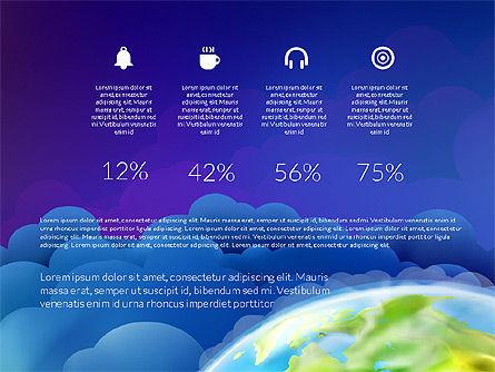 Data Driven Presentation on Globe Background, Slide 9, 03300, Presentation Templates — PoweredTemplate.com