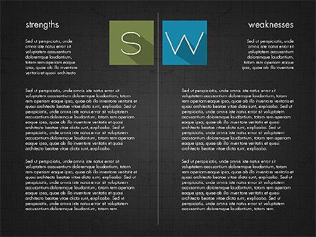 SWOT Matrix, Slide 10, 03302, Business Models — PoweredTemplate.com
