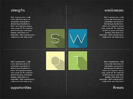 SWOT Matrix, Slide 14, 03302, Business Models — PoweredTemplate.com