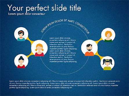 Social Circles Concept, Slide 10, 03303, Organizational Charts — PoweredTemplate.com