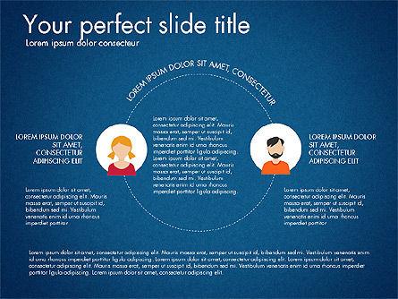 Social Circles Concept, Slide 12, 03303, Organizational Charts — PoweredTemplate.com