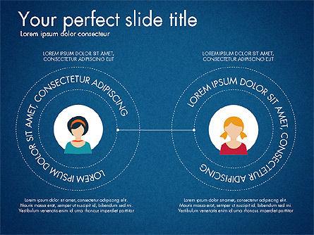 Social Circles Concept, Slide 13, 03303, Organizational Charts — PoweredTemplate.com