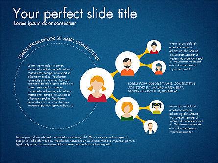 Social Circles Concept, Slide 14, 03303, Organizational Charts — PoweredTemplate.com
