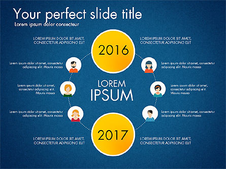 Social Circles Concept, Slide 15, 03303, Organizational Charts — PoweredTemplate.com