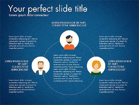 Social Circles Concept, Slide 16, 03303, Organizational Charts — PoweredTemplate.com