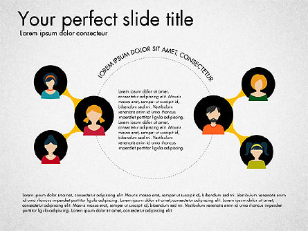 Social Circles Concept, Slide 2, 03303, Organizational Charts — PoweredTemplate.com