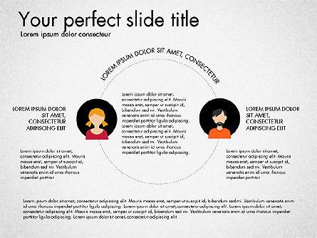 Social Circles Concept, Slide 4, 03303, Organizational Charts — PoweredTemplate.com