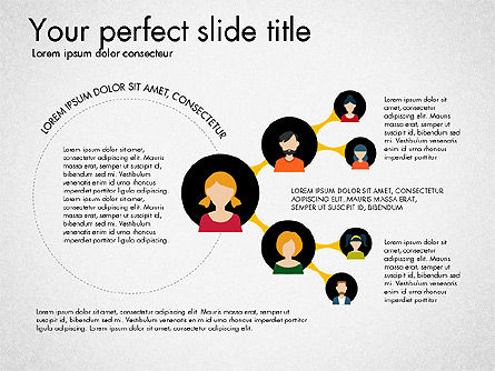 Social Circles Concept, Slide 6, 03303, Organizational Charts — PoweredTemplate.com