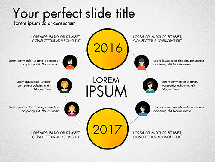 Social Circles Concept, Slide 7, 03303, Organizational Charts — PoweredTemplate.com