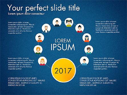 Social Circles Concept, Slide 9, 03303, Organizational Charts — PoweredTemplate.com