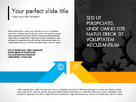 Blue and Orange Presentation Concept, Slide 4, 03307, Presentation Templates — PoweredTemplate.com