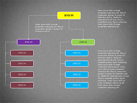 Organizational Chart Toolbox, Slide 12, 03308, Organizational Charts — PoweredTemplate.com