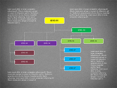 Organizational Chart Toolbox, Slide 15, 03308, Organizational Charts — PoweredTemplate.com