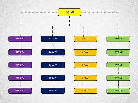 Organizational Chart Toolbox, Slide 8, 03308, Organizational Charts — PoweredTemplate.com