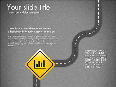 Road and Signs Concept, Slide 15, 03310, Shapes — PoweredTemplate.com
