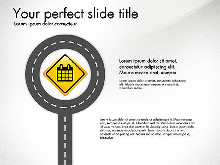 Road and Signs Concept, Slide 3, 03310, Shapes — PoweredTemplate.com
