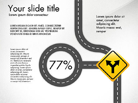 Road and Signs Concept, Slide 6, 03310, Shapes — PoweredTemplate.com